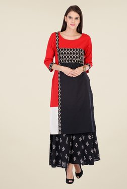 Varanga Black Printed Kurta With Palazzo - Mp000000000807945