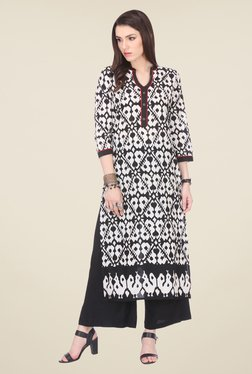 Varanga Black Printed Kurta With Palazzo - Mp000000000808164