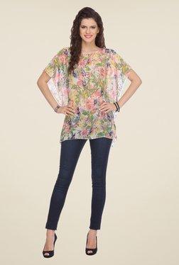 Varanga Multicolor Floral Print Top