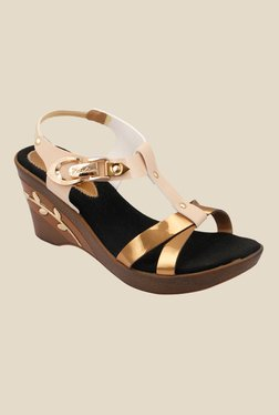 Cocoon Beige Ankle Strap Wedges