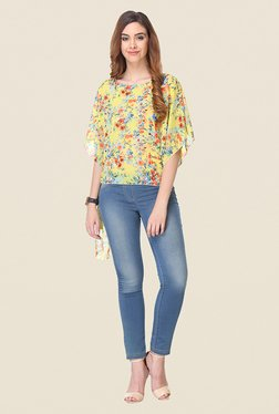 Varanga Yellow Floral Print Top
