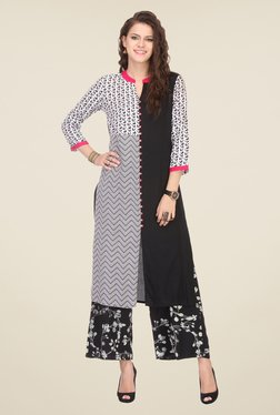 Varanga Black Printed Kurta With Palazzo - Mp000000000808826