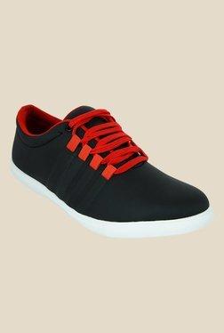 Shoe Sense Black & Red Sneakers