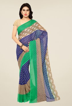 Shonaya Blue Printed Saree - Mp000000000809619