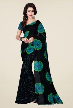 Shonaya Black Floral Print Saree