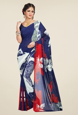 Shonaya Blue Printed Saree - Mp000000000809670
