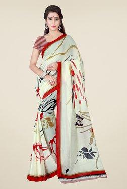Shonaya Cream Printed Saree