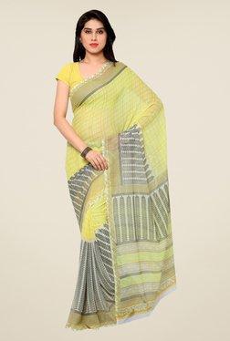 Shonaya Yellow Printed Saree - Mp000000000809896