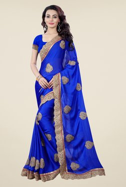 Shonaya Blue Embroidered Saree