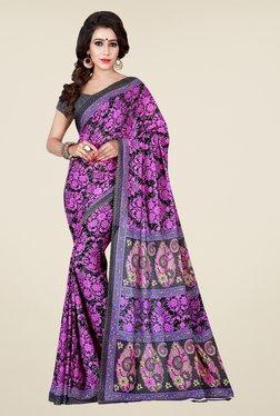 Shonaya Grey & Pink Floral Print Saree