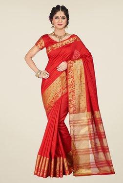 Shonaya Red Printed Saree - Mp000000000810053