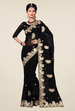 Shonaya Black Embroidered Saree
