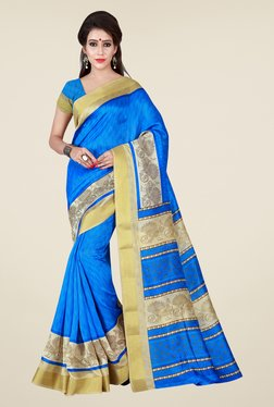 Shonaya Blue Printed Saree - Mp000000000810168