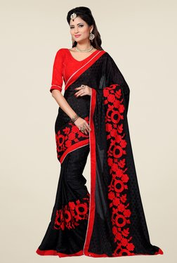 Shonaya Black Embroidered Saree - Mp000000000810202