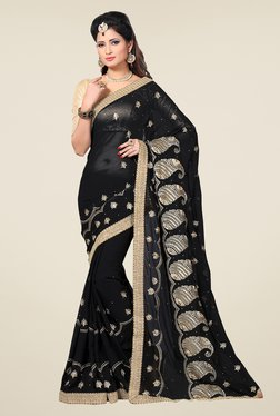 Shonaya Black Embroidered Saree - Mp000000000810220