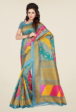 Shonaya Blue Printed Saree - Mp000000000810257