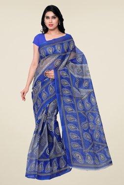 Shonaya Blue Paisley Print Saree