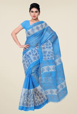 Shonaya Blue Printed Saree - Mp000000000810381