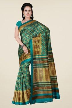 Shonaya Teal Printed Saree