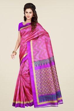 Shonaya Pink Printed Saree