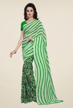 Shonaya Green Floral Print Saree