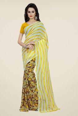 Shonaya Yellow Floral Print Saree