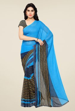 Shonaya Blue Printed Saree