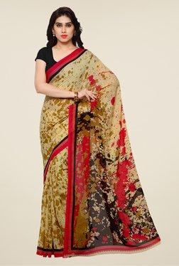 Shonaya Beige & Pink Printed Saree