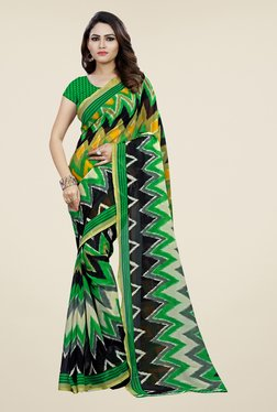 Shonaya Green Printed Saree - Mp000000000810514