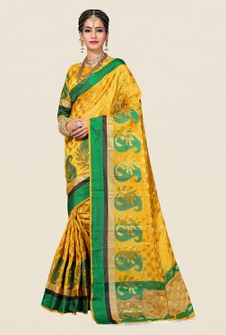 Shonaya Yellow Paisley Print Saree