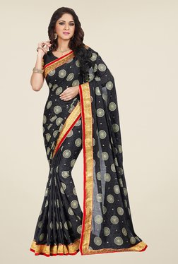 Shonaya Black Embroidered Saree - Mp000000000810617
