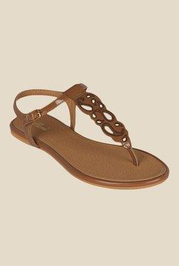 Flora Brown Ankle Strap Sandals