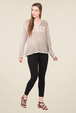 Free & Young Grey Solid Top
