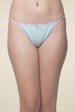 Clovia Light Blue Checks Bikini Panty