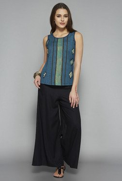 Bombay Paisley by Westside Teal Printed Tank Top