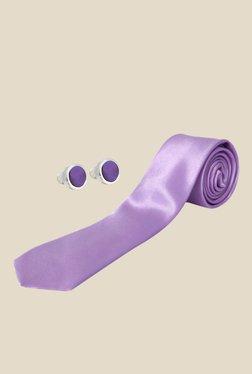 Blacksmith Lavender Satin Tie With Cufflinks