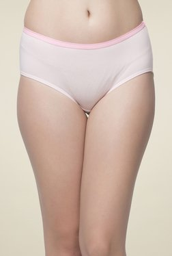 Clovia Pink Solid Hipster Panty