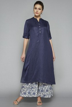 Zuba by Westside Indigo Solid Kurta