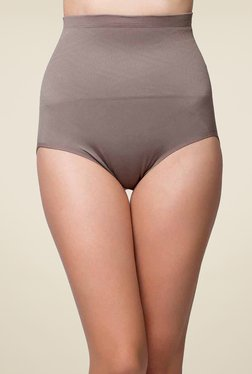 Clovia Grey Self Print Tummy Tucker Shapewear