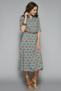 Bombay Paisley by Westside Turquoise Printed Dress