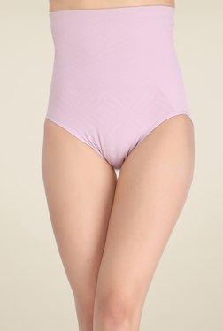 Clovia Lavender Self Print Tummy Tucker Shapewear