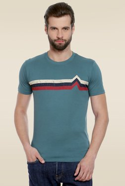 Cult Fiction Blue Striped T-Shirt