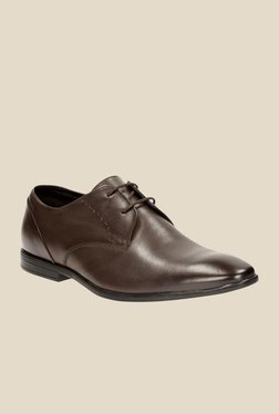 Clarks Bampton Walnut Derby Shoes