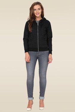 Wrangler Black Full Sleeves Sweatshirt