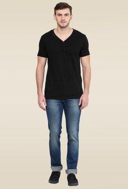 Wrangler Blue Cotton Mid Rise Jeans