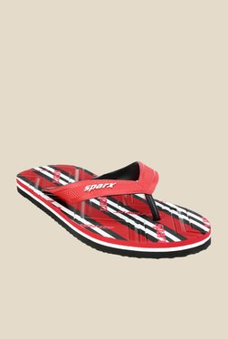 Sparx Red & Black Flip Flops