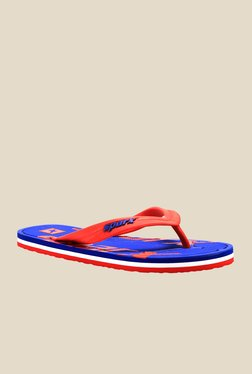 Sparx Red & Royal Blue Flip Flops
