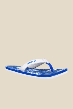Sparx Grey & Royal Blue Flip Flops