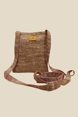Clean Planet Brown Khadi Sling Bag