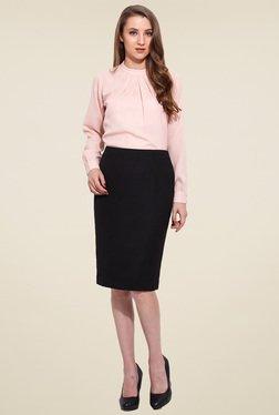 Saiesta Black Casual Skirt